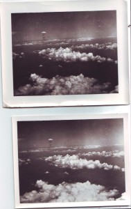 Atomic bomb photo reconnaissance pictures