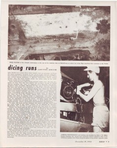 Welcome Yankee - Article about dicing runs. December 19, 1944 Brief