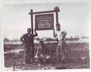 Ernie Pile, Okinawa, 18 April 1945