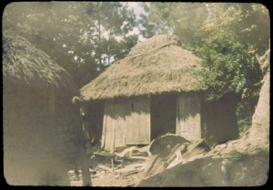 Native Hut, Okinawa village, 1945