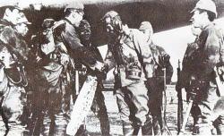 Captain Okuyama and Giretsu Airborne unit depart on their mission to Okinawa (Wikipedia)